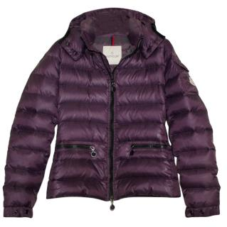 Moncler Purple Bea Down Hooded Jacket