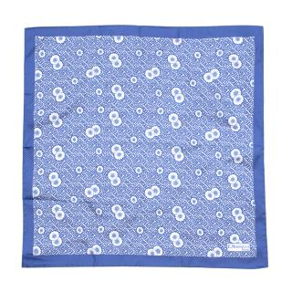 E. Marinella Blue Floral Silk Handkerchief
