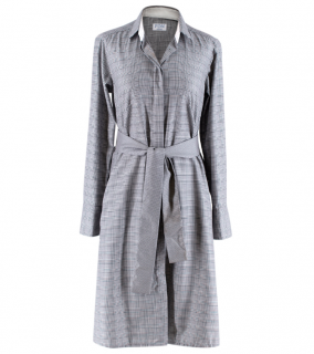 PDN London Prince of Wales Check Cotton Shirt Dress