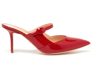 Rupert Sanderson Tosca patent-leather Mary-Jane mules