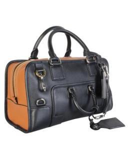 Loewe Black and Tan leather Bolso Amazona 28 Bag