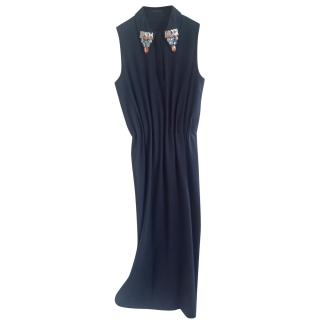 Mother Of Pearl Blue Sleeveless Embellished Maxi Dress