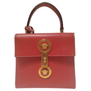 Versace Red Leather Icon Handbag