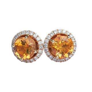 William & Son Diamond & Citrine Interchangeable Earrings & Halos