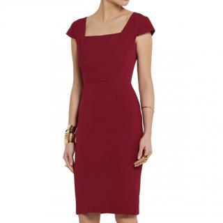 Roland Mouret Red Jeddler Crepe Dress