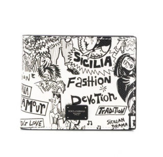 Dolce & Gabbana Cartoon Printed Bifold Wallet