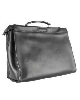 Fendi large Black Leather Peekaboo Iconic Fit Bag