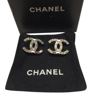 Chanel Baguette Crystal CC Earrings