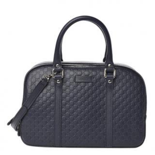 Gucci Navy Blue Guccissima Shoulder Bag