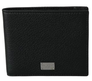 Dolce & Gabbana Black Leather Bi-Fold Wallet