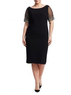 Marina Rinaldi Crystal Embellished Evening Dress