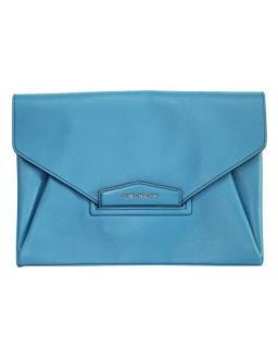 Givenchy Blue Leather Antigona Envelope Clutch