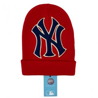 Gucci NY Yankies red wool beanie hat