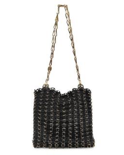 Paco Rabanne 1969 Onyx Black Bag in Light Gold and Black Laiton