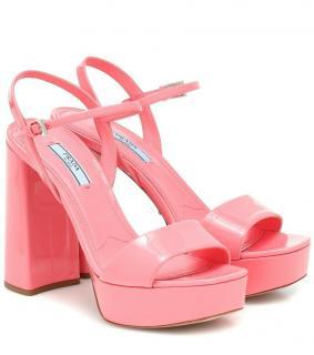 Prada petal pink platform sandals