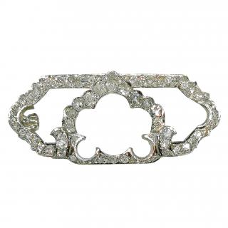 Bespoke diamond and platinum art deco brooch 1915-1920
