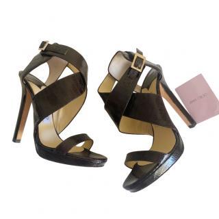 Jimmy Choo brown lizard sandals