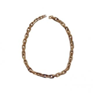 Eddie Borgo crystal and rose gold plate short chain necklace