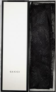 Gucci black floral lace full length gloves