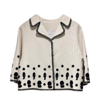Andrew GN lace and brocade ivory jacket