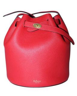 Mulberry Red Leather Abbey Bucket Bag