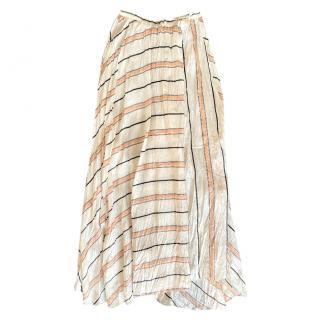 Forte Forte striped silk satin maxi skirt