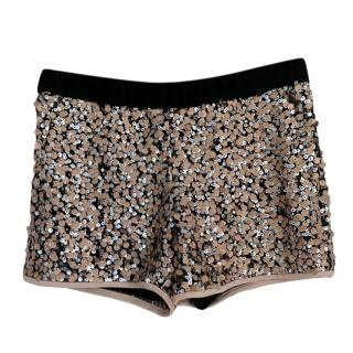 DVF lined sequin shorts