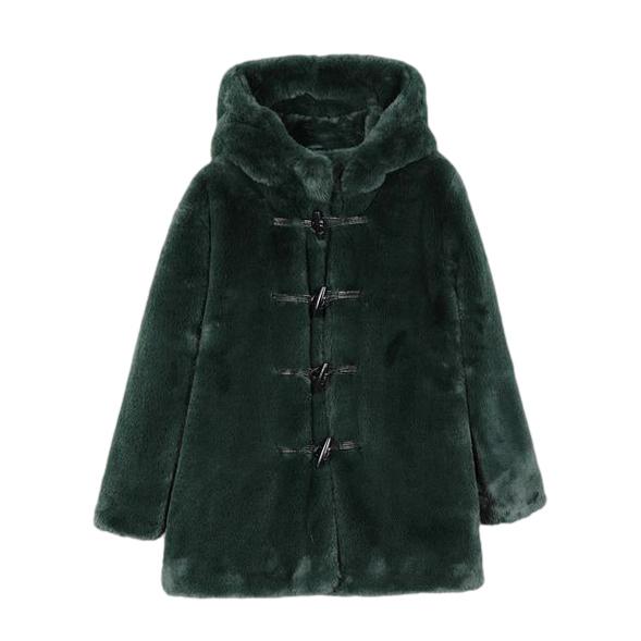 Stella McCartney Faux Fur Hooded Coat