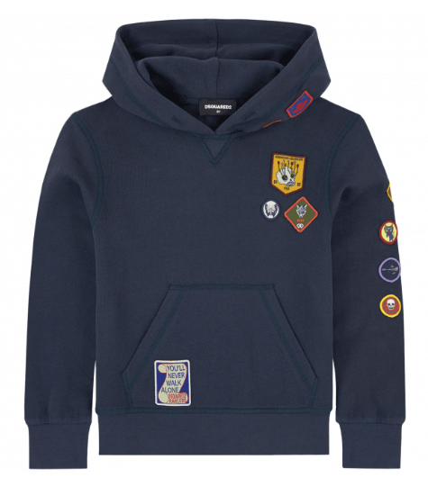 DSquared2 Kids Boyscout Hoodie Navy