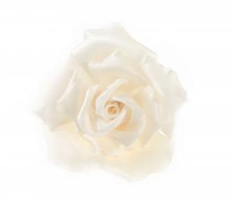 Chanel Ivory Silk Camellia Pin Brooch