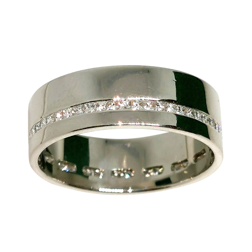 Bespoke heavyweight platinum and diamond men's and ring