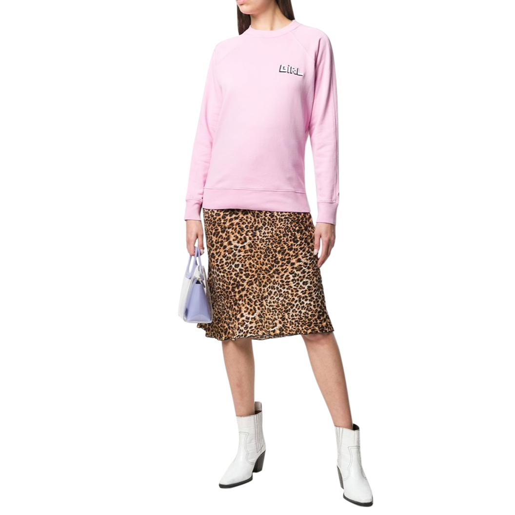 Bella Freud Pink Cotton 'Girl' Sweater