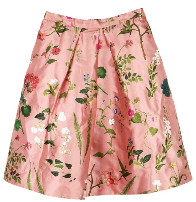 Oscar De La Renta Kids 12Y Pink Floral Skirt
