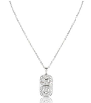 Bvlgari White Gold Diamond Pendant Necklace