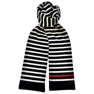 Saint Laurent striped knit scarf