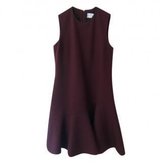 Victoria Victoria Beckham burgundy flare dress