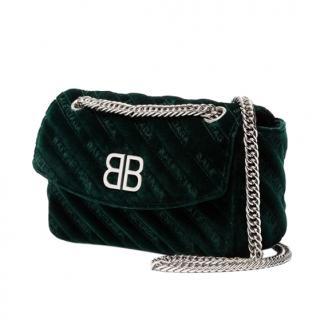 Balenciaga BB Dark Green Shoulder Bag
