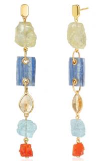 Monica Vinader x Caroline Issa Gemstone Cocktail Earrings