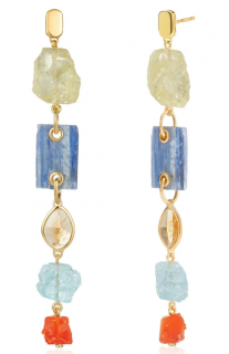 Monica Vinader x Caroline Issa Gemstone Cocktail Earrings