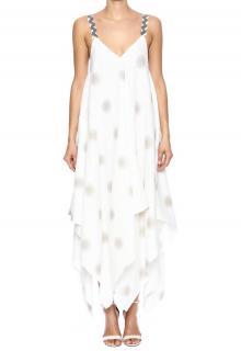 Royal Jelly Harlem handkerchief point linen dress