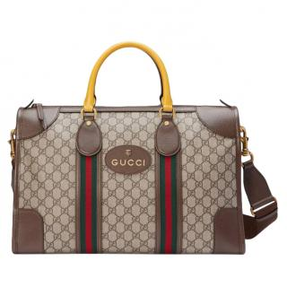 Gucci Beige Neo Vintage duffle bag with Web