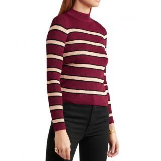 Isabel Marant Etoile Red & Cream Striped jumper