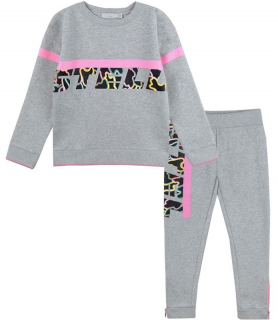 Stella McCartney Kids 4Y Girls Sport Logo Grey Tracksuit