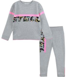 Stella McCartney Kids 4Y Girls Sport Logo Grey Tracksuit