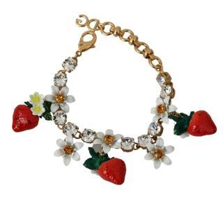 Dolce & gabbana fruit and flowers charm bracelet