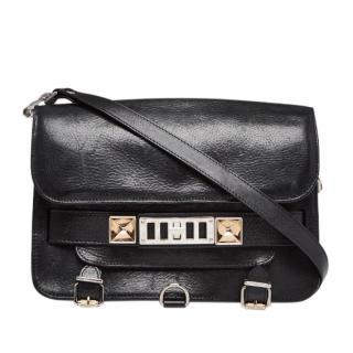 Proenza Schouler Black Leather PS11 Classic Shoulder Bag