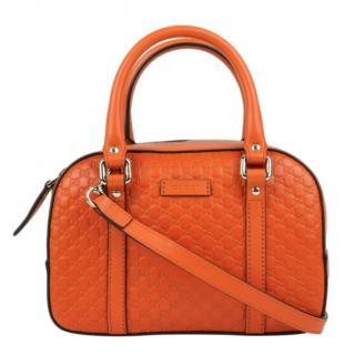 Gucci Orange Guccissima Top Handle Bag