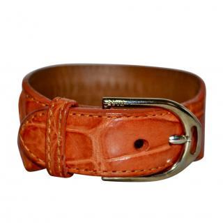 Ralph Lauren orange alligator skin cuff/bracelet