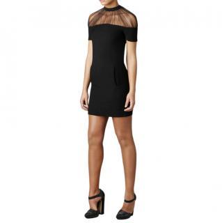 Christopher Kane Black Tulle Neck Black Mini Dress UK10
