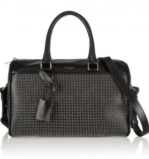 Saint Laurent Classic Duffle 6 Studded Leather Bag